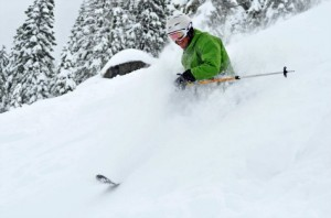 Bear Valley powder skier