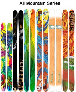 Lake Tahoe's Praxis Skis specializes in hand-crafted, colorful skis