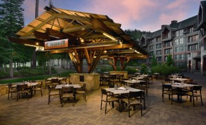 Scenic outdoor dining is typically an option during the summer months at The Ritz-Carlton, Lake Tahoe.