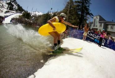 Fun-loving spring ski events at Squaw, Apline