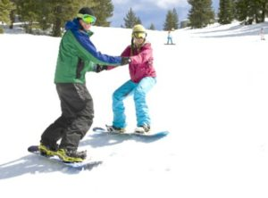 Learning how to snowboard