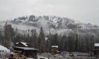 First snowfall at Lake Tahoe ski resorts