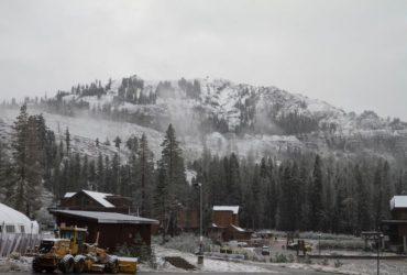 First snowfall at Lake Tahoe ski resorts
