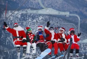 Santa Ski Down on Saturday at Mt. Rose
