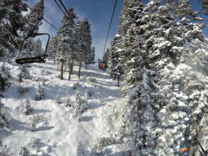 Snow storm dumps on Lake Tahoe ski resorts