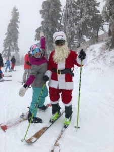 Christmas powder day at Tahoe ski resorts