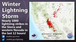Lightning shuts down Tahoe ski resorts