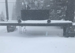 Snow pounds Tahoe ski resorts