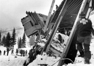 The Alpine Meadows building that contained Anna Conrad was crushed by the powerful avalanche.