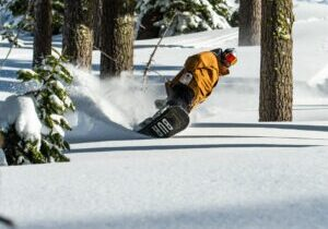 Boreal Mountain has 581 inches of snow this season and provided many of powder days for snowboarders and skiers.