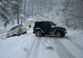 Road conditions are currently hazardous along Interstate-80 and Highway 50 heading into Lake Tahoe.