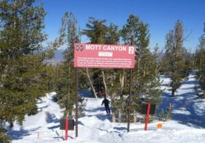 The skier was injured in the Mott Canyon area at Heavenly, an expert area on the Nevada side known for its steep runs.