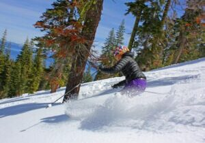 Homewood Mountain is a family-friendly ski resort that is known for its tree skiing and gorgeous views of nearby Lake Tahoe.