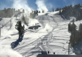 Mammoth Mountain is located in Mammoth Lakes, along California's Highway 395 corridor in the Eastern Sierra.