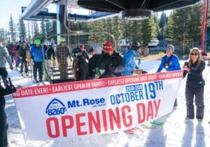 Mt. Rose has been the first resort to start running its lifts the previous four seasons, including last year's opener Oct. 25. It was the earliest Mt. Rose has ever opened for skiing and snowboarding