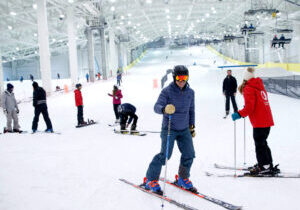 An indoor snow dome already exists at New Jersey's Big Snow American Dream, a 180,000-square-foot indoor ski hill that opened in December 2019. Emery says the two projects are pretty different.