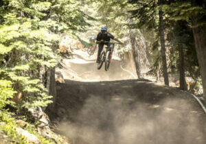 There's plenty of challenging terrain at the Northstar mountain bike park.