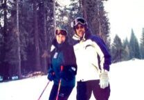 Longtime Dodge Ridge owners Frank and Sally Helm at 1998 opening day of Chair 8.