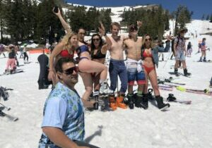 The final days at Squaw Valley ski resort saw skiers and riders wearing unique ski fashions, flaunting their craziest styles.