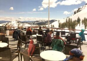 Skiers and riders enjoyed a sun-drenched day earlier this week at Squaw Valley ski resort, which is among 12 resorts that will be shutting down as of Monday.