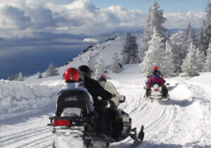 Zephyr Cove offers some gorgeous snowmobile trails to explore in the winter months.